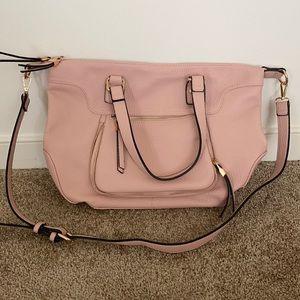Large Blush Pink Purse EUC
